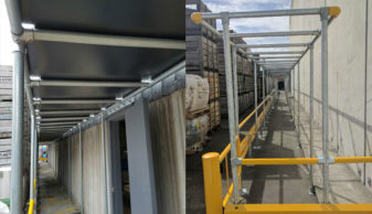 astron plastics access barriers overhead protection